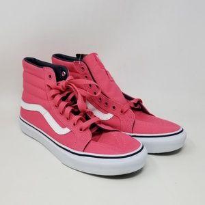 Vans Sk8-Hi Slim Camellia Rose Sneakers Men's Sz 7